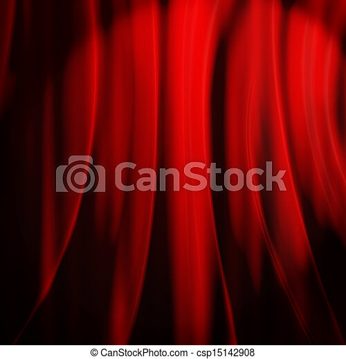 red curtain with place for text - csp15142908