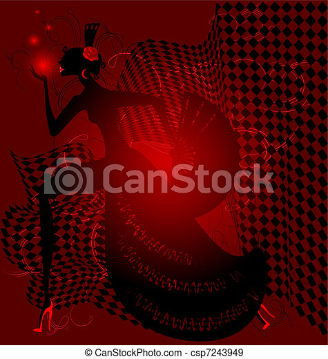 red dance and black women - csp7243949