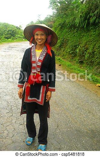 Red Dao ethnic female - csp5481818
