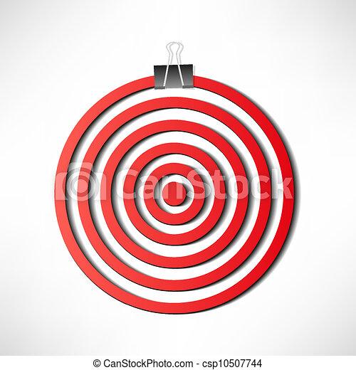 Red darts target - csp10507744
