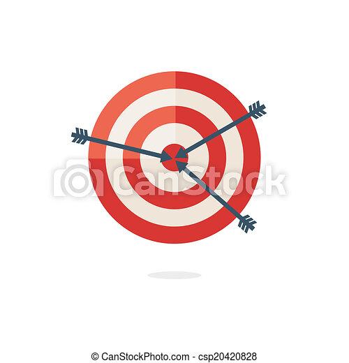 Red darts target on white background - csp20420828