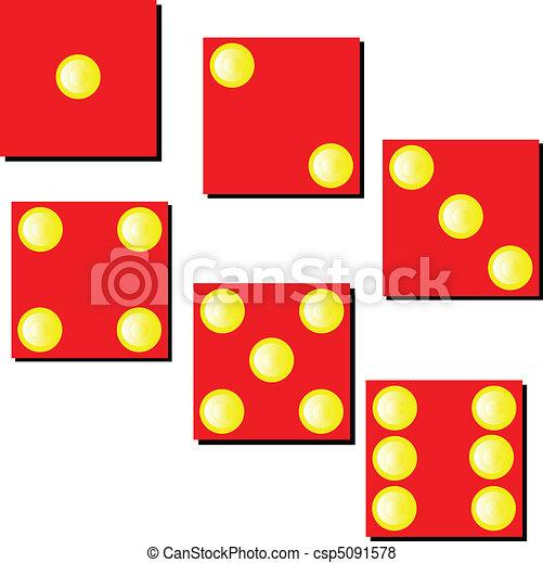red dice illustration - csp5091578