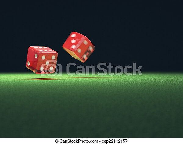 Red Dice In Motion - csp22142157