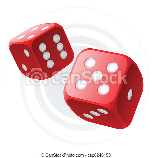 Red dices - csp6246153