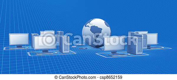 La red digital - csp8652159