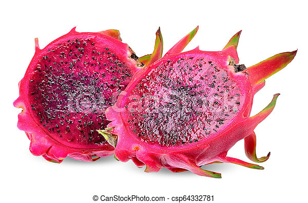 Red dragon fruit isolated - csp64332781