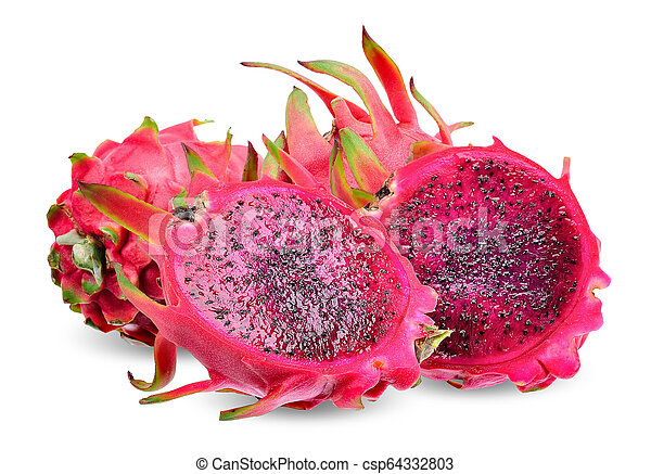 Red Dragon fruit isolated - csp64332803
