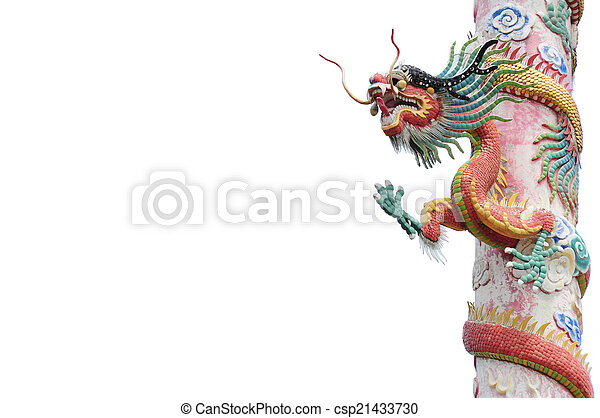 Red dragon pole - csp21433730