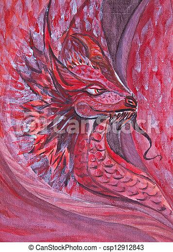 Red dragon - csp12912843