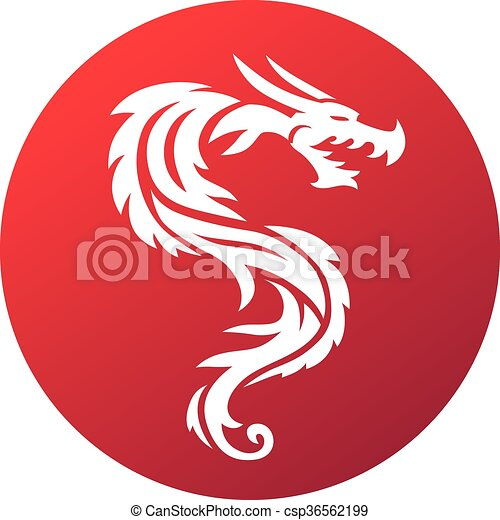 Red Dragon Vector Illustration Red Dragon Paper Dragon China