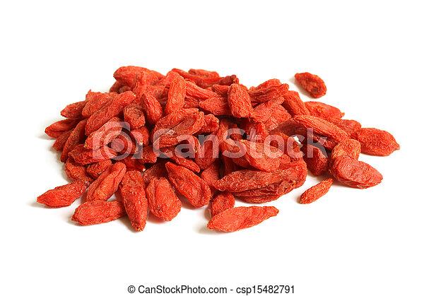 Red dried goji berries (Lycium Barbarum - Wolfberry) - csp15482791