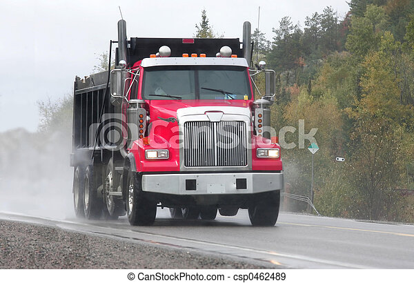 red dump truck - csp0462489