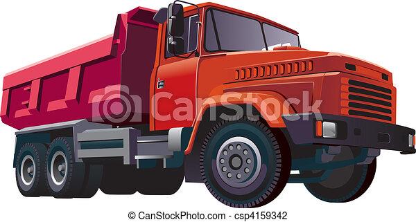 Red Dumper - csp4159342