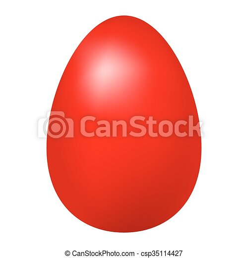 Red Easter Egg - csp35114427