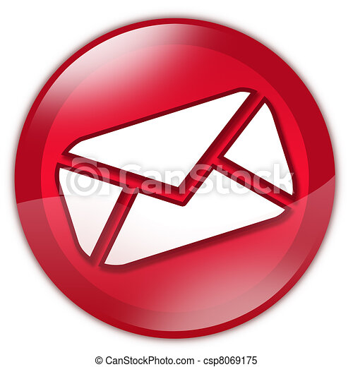 Red email button - csp8069175