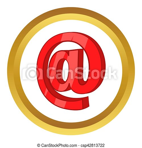 Red email sign icon - csp42813722