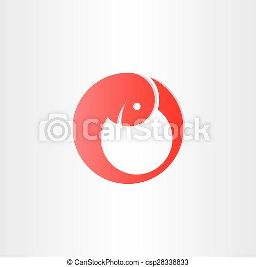 Red Embryo Development Baby Symbol Design Vectors Search Clip Art