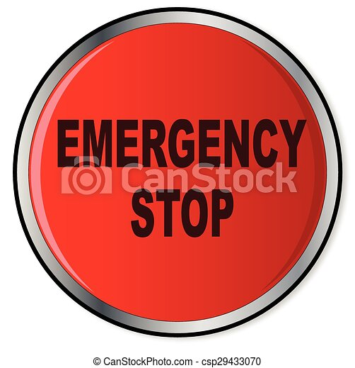 Red Emergency Stop Button - csp29433070