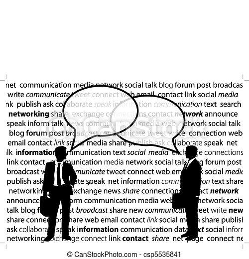 Los empresarios comparten las charlas de la red social - csp5535841