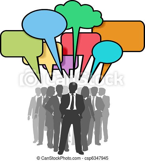 Los empresarios hablan burbujas - csp6347945