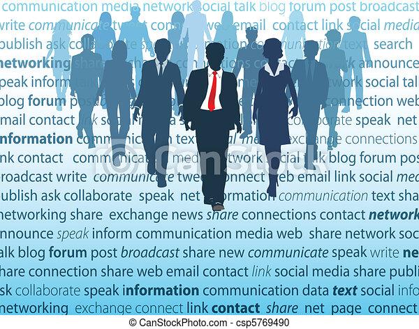 Los conceptos de la red social de los medios de comunicación - csp5769490