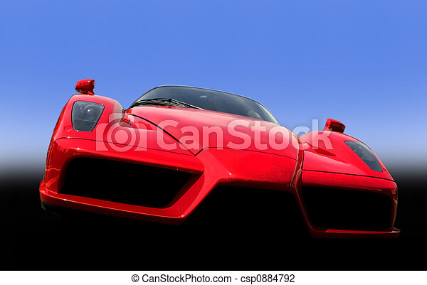 Red Exotic Sports Car - csp0884792