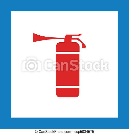 red extinguisher sign - csp5034575