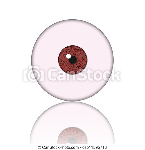 red eye ball  - csp11595718