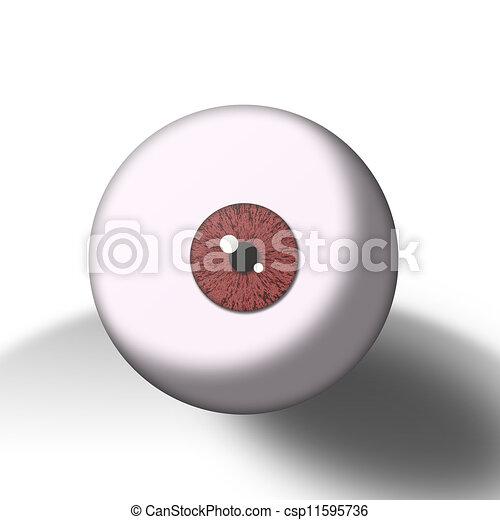 red eye ball  - csp11595736