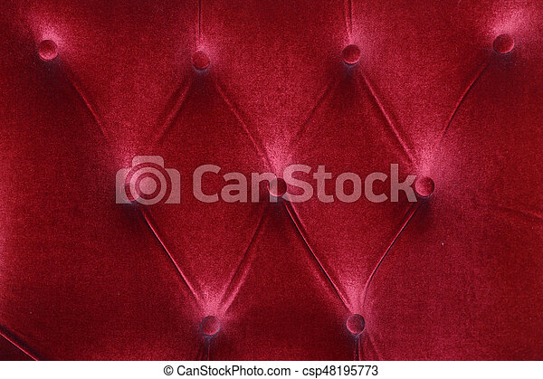 Red Fabric Cushion Furniture Sofa Texture Background