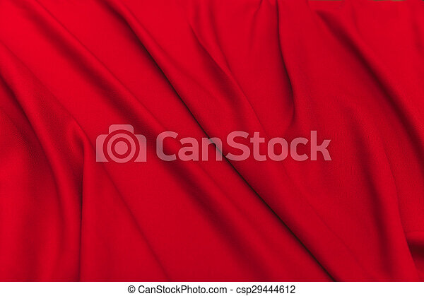 Red fabric - csp29444612