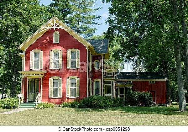 Red Farm House - csp0351298