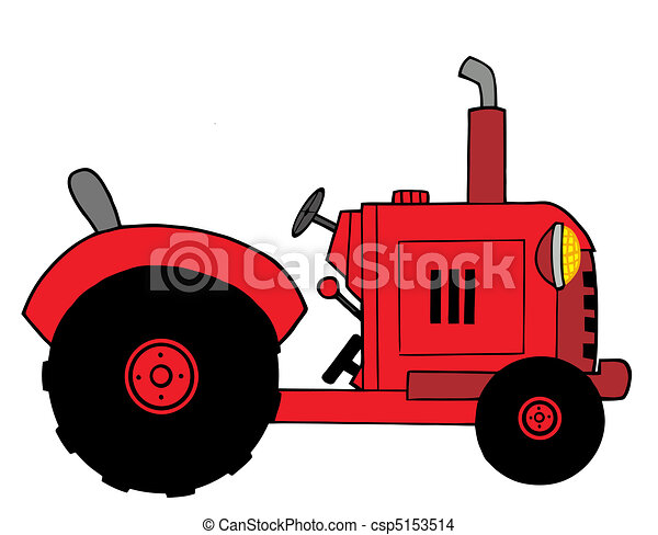 Red Farm Tractor - csp5153514