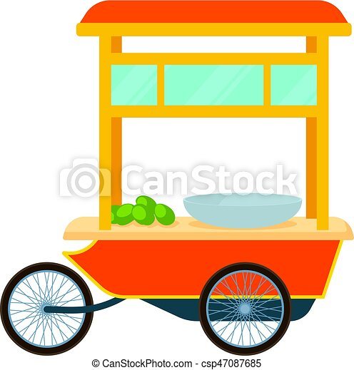 red fast food trolley bike icon cartoon style red fast vector rh canstockphoto co uk shopping trolley clipart free golf trolley clipart
