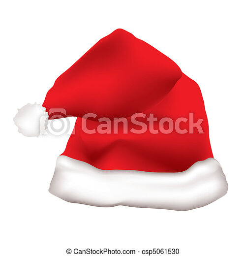 5947056d70 Red father christmas hat with white fur trim vector clipart - Search ...