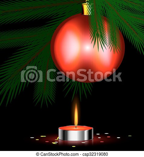 red festive candle - csp32319080