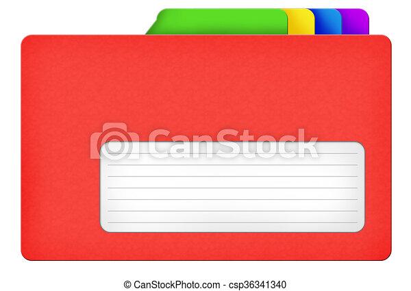 Red file folder - csp36341340