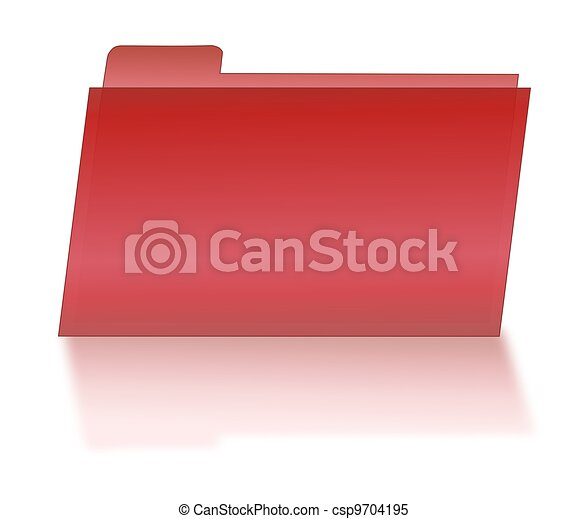Red File Folder with Shadow - csp9704195
