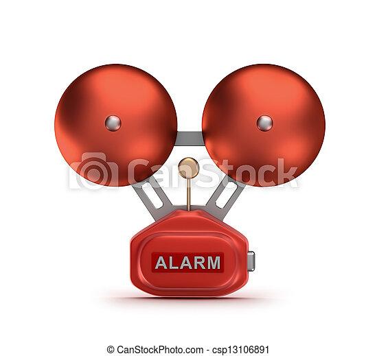 Red fire alarm bell ringer - csp13106891