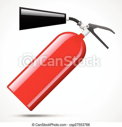 red fire extinguisher - csp27553766