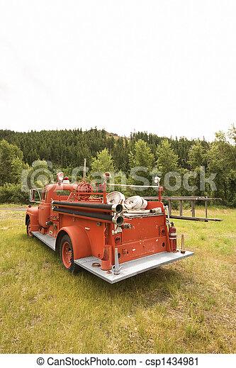 Red fire truck. - csp1434981