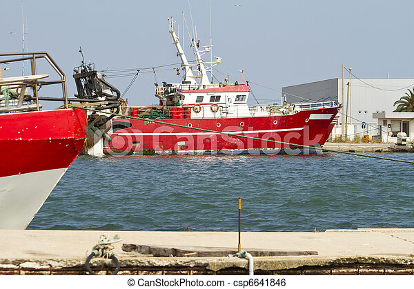 red fishing boat - csp6641846