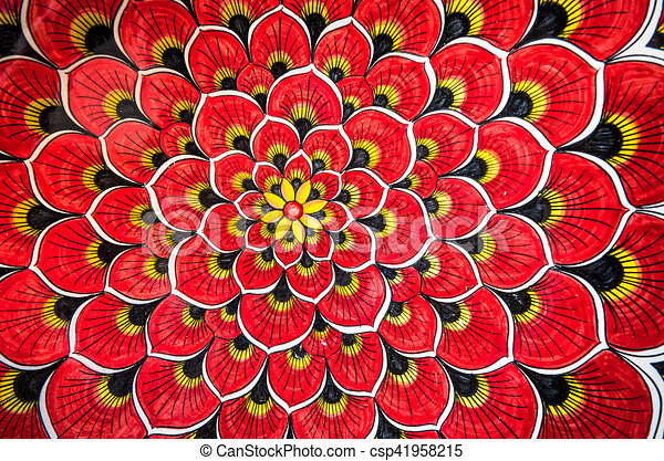 red floral background - csp41958215