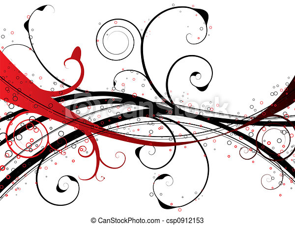 red floral swirl - csp0912153