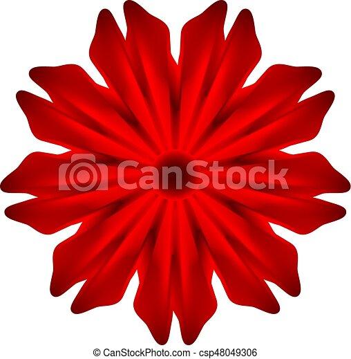 Red flower on a white background red flower csp48049306 mightylinksfo