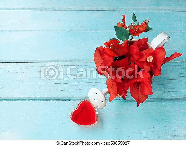 Red Flowers With Heart Beautiful Wallpaper Fill Up Lover