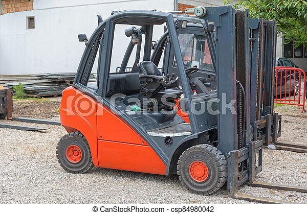 Red Forklift - csp84980042