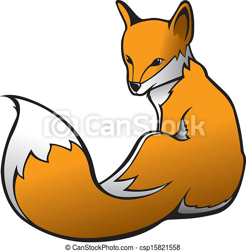 illustration of a red fox vector file clipart vector search rh canstockphoto com red fox clipart free