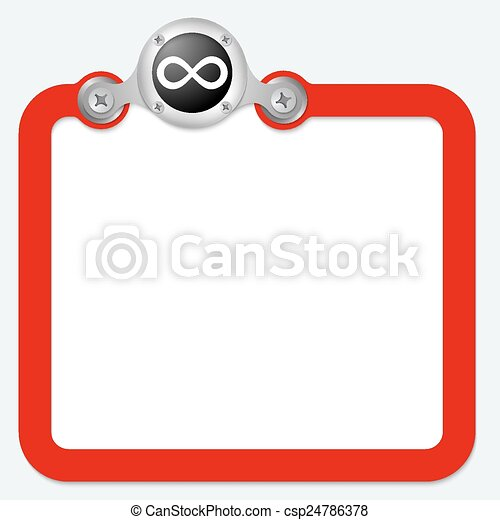 red frame for text and infinity symbol - csp24786378