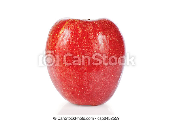 Red fresh apple on a white background - csp8452559